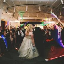 glow sticks, exit, bride and groom