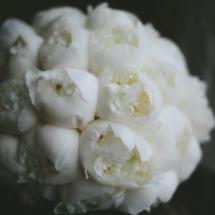 Peony Bouquet, White, Brides Bouquet