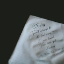 handkerchief for dad , wedding gift