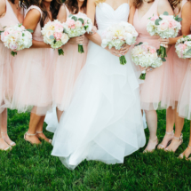 blush, green, bouquets