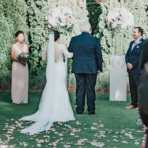 wedding ceremony, walking down the aisle