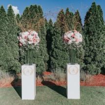 ceremony, centerpieces, branches