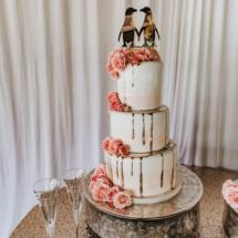 wedding cake, three tier, wedding topper, penguins
