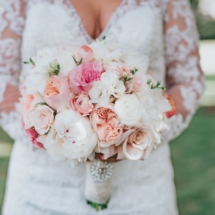 brides bouquet, roses, pink, white
