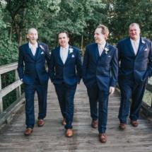 groom, groomsmen, navy, pink