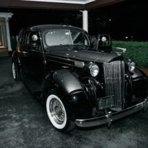 vintage car, exit, bride, groom