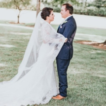 bride and groom, white, navy