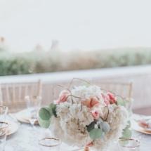 elegant, centerpiece, white, rose