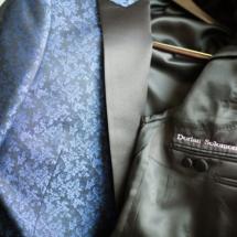Custom Suit, Brides Initials, Wedding Suit