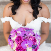 Purple, Fuschia, Brides Bouquet