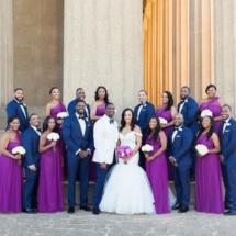 Bridal Party, Purple, Navy