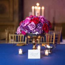 Gold, Fuschia, Purple, Centerpieces, Royal Blue, Weddings