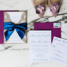 Wedding Invitations, Royal Blue, Purple