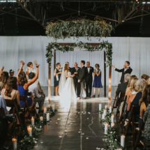 Marathon Music Works, Jewish Ceremony, Floral Chandelier, Greenery, Chuppah